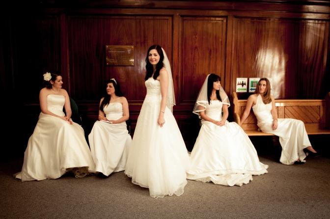 Work your wedding dress